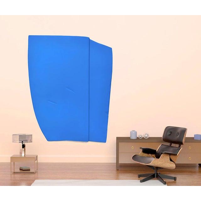 "Jaena Kwon Jaena Kwon ""Bluepoint"" Minimal Abstract Colorful Acrylic Shapes Artwork in Frame For Sale - Image 4 of 5"