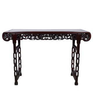 Chinese Antique Carved Rosewood Altar Table For Sale
