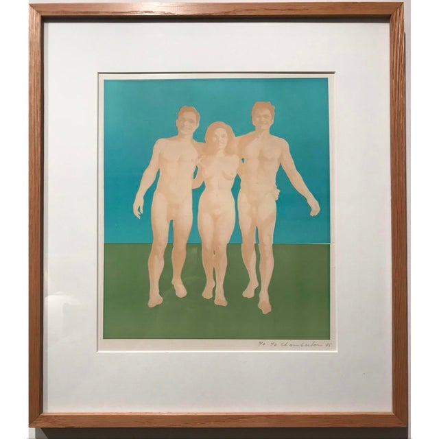 Wynn Chamberlain (1927-2014) Untitled (Three Nudes), 1965 Lithograph, 12 x 10 inches (image) 19 1/4 x 17 1/4 inches...