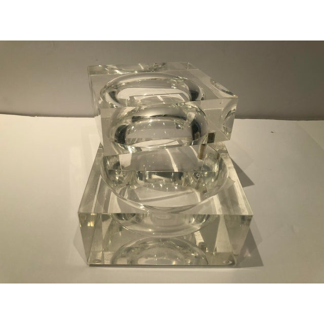 1960s Mid-Century Modern Lucite Ice Bucket For Sale - Image 4 of 9
