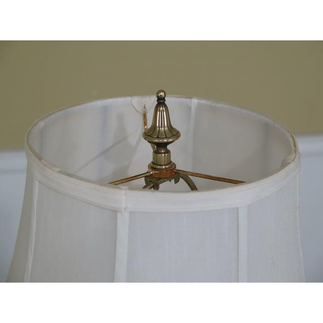 1990s Vintage Regency Style Brass Floor Lamp For Sale - Image 4 of 7
