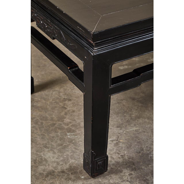 18th C. Low Black Lacquer Kang Table For Sale In Los Angeles - Image 6 of 8