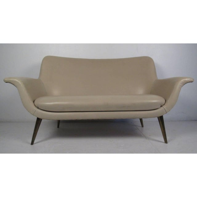 Gold Mid-Century Modern Loveseat For Sale - Image 8 of 8