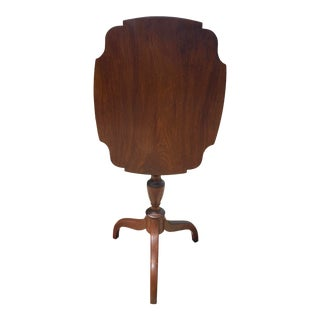 19th Century Mahogany Hepplewhite Spider-Legged Tilt Top Candlestand For Sale