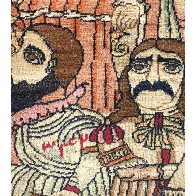 Antique Persian Kerman Rug - 7′1″ × 10′6″ For Sale - Image 9 of 11