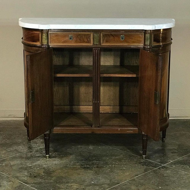 Late 19th Century 19th Century French Louis XVI ~ Directoire Style Marble Top Buffet For Sale - Image 5 of 11