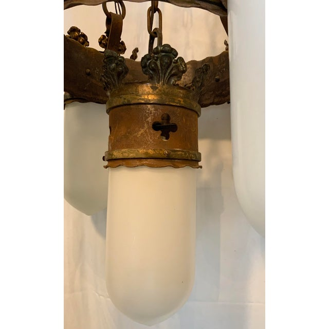 19th Century Gothic 5 Light Pendant Chandelier For Sale - Image 9 of 13