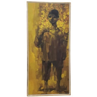 "Juan Chamizo ""Director De Musica"" Original Mid Century Oil Painting C.1965 For Sale"