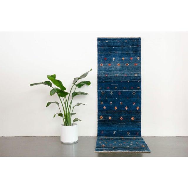 name: Vahbod origin: Iran (Persian), Fars, Gabbeh style: runner, rug, carpet material: hand knotted wool colors: blue,...