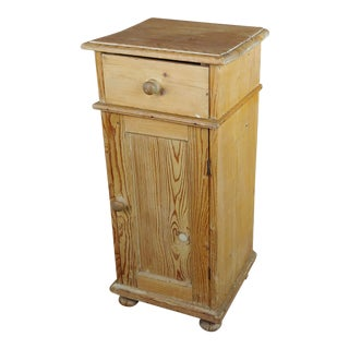 Antique Pine Cabinet Stand For Sale