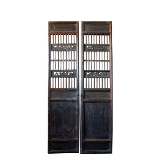 Antique Chinese Wood Screen Door For Sale