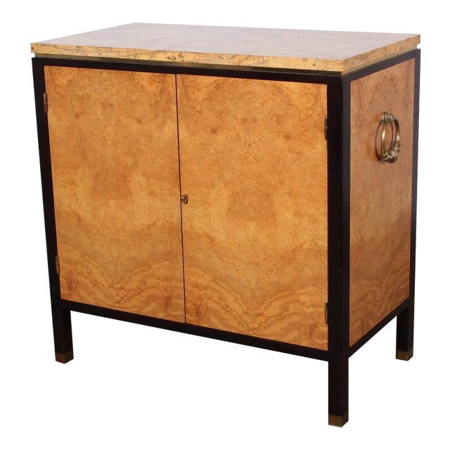 Rare Olive Burl Cabinet by Edward Wormley for Dunbar For Sale