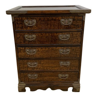 Antique Asian Five-Drawer Small Cabinet For Sale