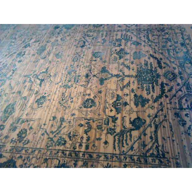 "Erased Hand-Knotted Luxury Rug - 7'10"" X 10'2"" - Image 7 of 10"