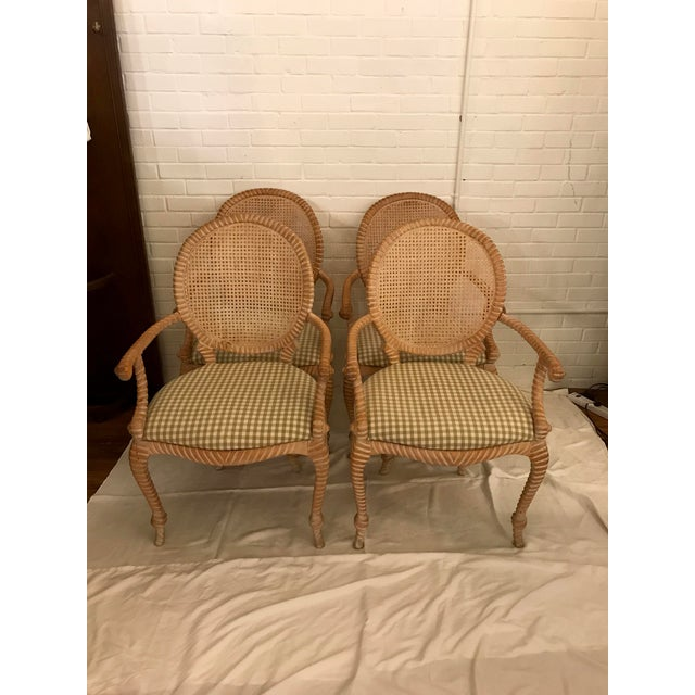 S/4 Andre Rope and Tassel Dining Chairs For Sale - Image 11 of 11