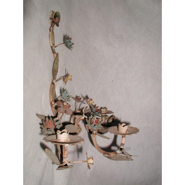 Italian Metal Sconce - Image 5 of 6