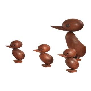 1950s Hans Bolling Teak Ducks - Set of 4