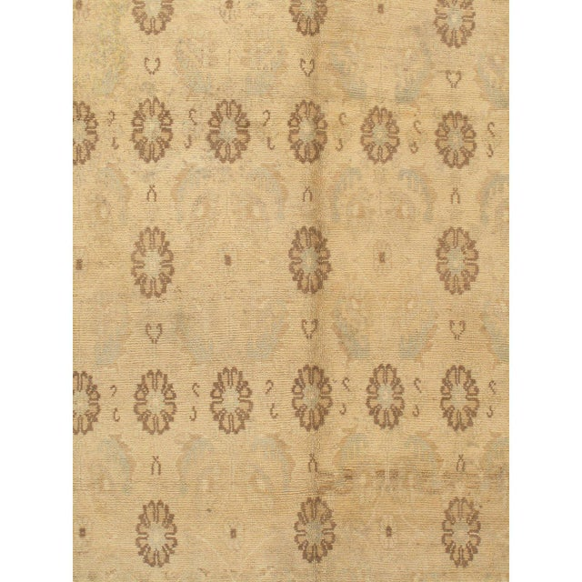 """Islamic Turkish Hand Knotted Oushak Rug - 5' X 9'1"""" For Sale - Image 3 of 4"""