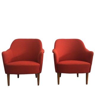"Mid-Century Modern ""Samspel"" Chairs by Carl Malmsten, o.h. Sjoegren - a Pair For Sale"