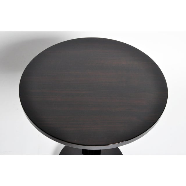 Art Deco Style Round Table with Metal Post For Sale In Chicago - Image 6 of 11