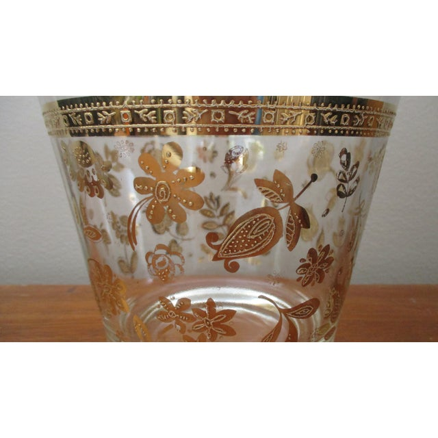 Vintage Culver Gold Ice Bucket Mid Century Modern Hollywood Regency For Sale - Image 9 of 11