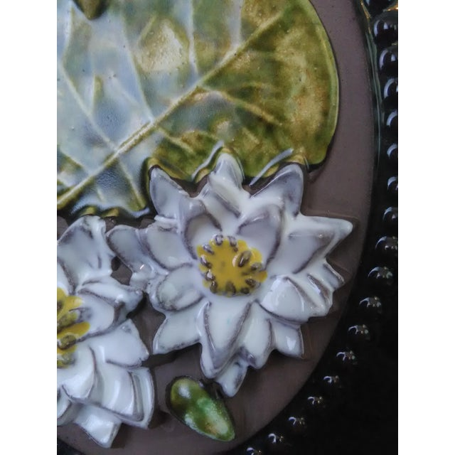 Mid-Century Modern Mid-century Swedish Floral Wall Plaque By Jie Gantofta For Sale - Image 3 of 4