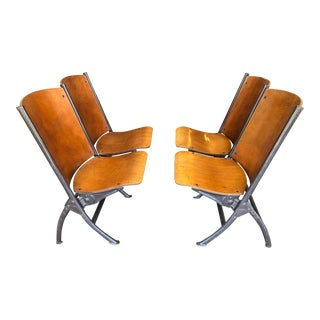 Mid-Century SF Mariners Union Twin Theater Seat Bench - a Pair