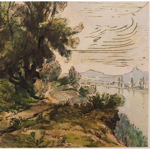 Theodore Rousseau, 1959 River Landscape Lithograph For Sale - Image 4 of 10
