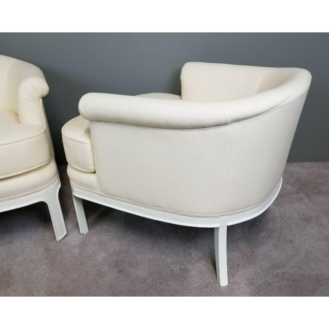 Cream Hollywood Regency Tomlinson Club Chairs - a Pair For Sale - Image 8 of 12
