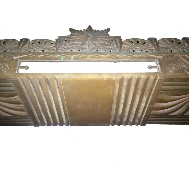 Art Deco Bronze/Brass Elevator Door Frame For Sale - Image 6 of 10