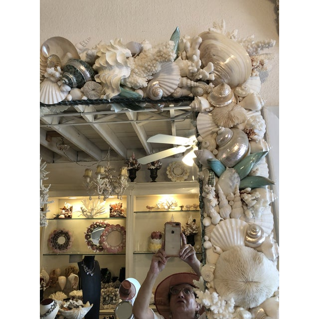 Horizontal Shell Mirror For Sale In West Palm - Image 6 of 8
