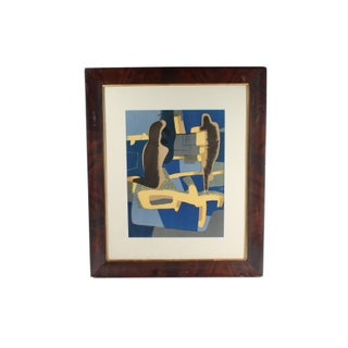 """Maurice Estève 1968 Lithograph """"Face a Face"""" From XXe Siècle, No. 30 For Sale"""