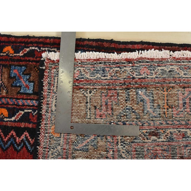 Vintage Persian Hamadan Runner - 4'2'' X 10' For Sale - Image 12 of 13