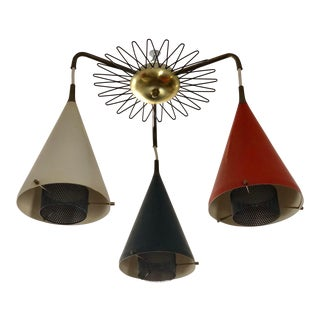 1950s Gerald Thurston for Lightolier Chandelier For Sale
