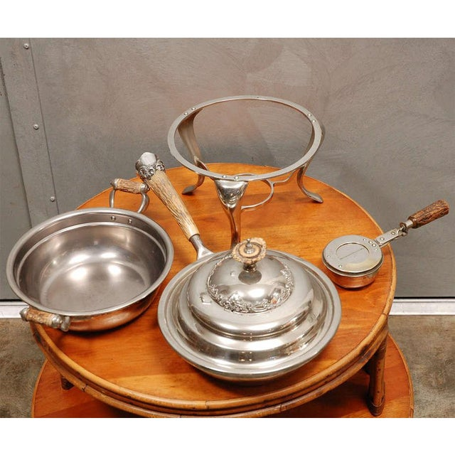 Silver American Chafing Dish For Sale - Image 8 of 9