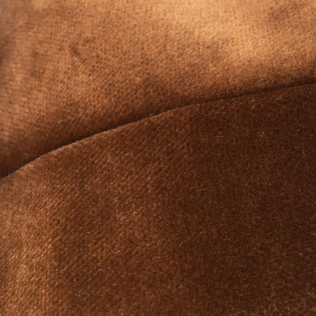 Brown Velvet Pillows - a Pair - Image 3 of 5