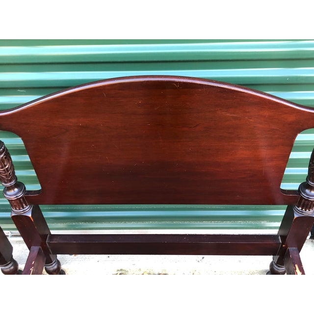 Solid Mahogany Acorn Top Twin Beds- a Pair For Sale - Image 10 of 13