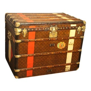 1920s Extra Large Louis Vuitton Steamer Trunk, Malle Louis Vuitton For Sale