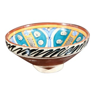 Antique Moroccan Pottery Bowl For Sale