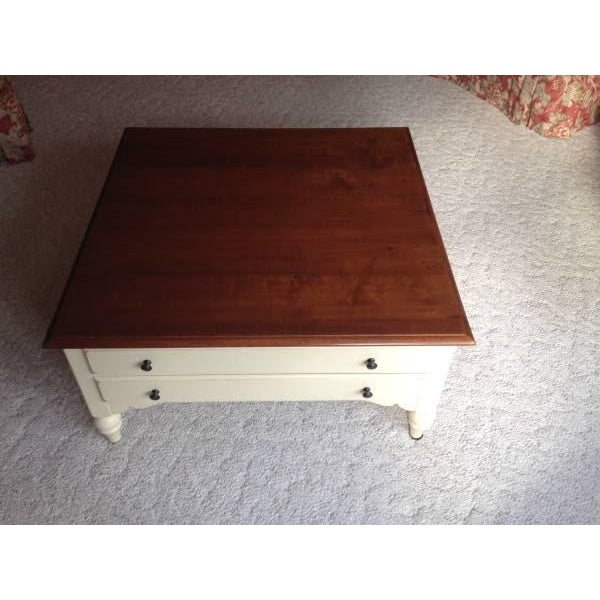 Ethan Allen Country Crossings Maple Coffee Table
