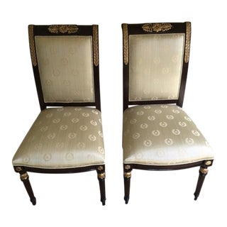 E J Victor Nicolette Dining Side Chairs - A Pair For Sale