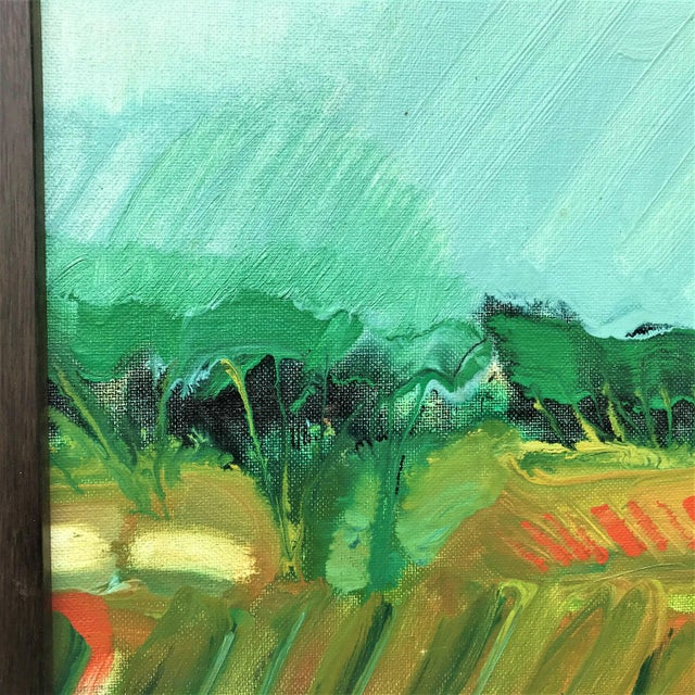 1970s Expressionist Landscape by Norman F. Goodwin For Sale - Image 4 of 8