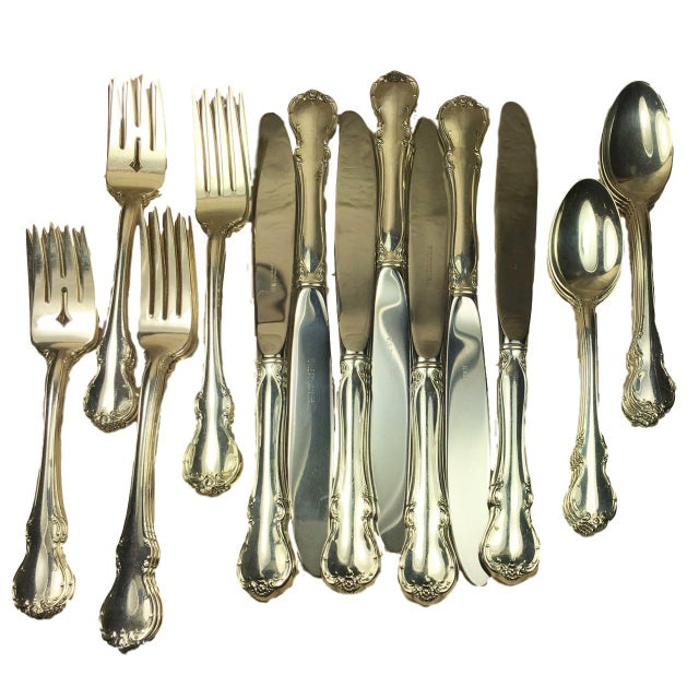 Towle French Provincial Sterling Silver Service for Eight - 32 Pieces For Sale - Image 10 of 10