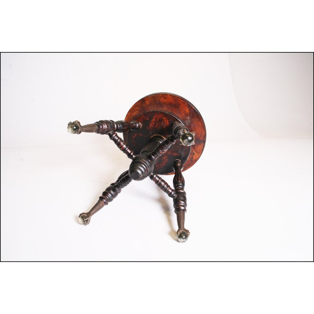 Victorian Wood Swivel Piano Stool with Ball & Claw Feet For Sale - Image 11 of 11