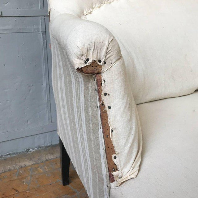 Small French Settee With High Back For Sale - Image 9 of 11