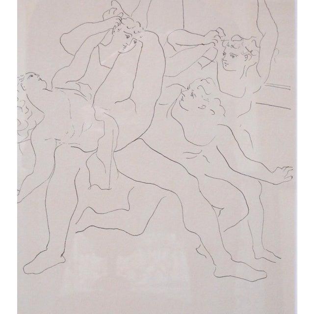 "Figurative 1940s Vintage Pablo Picasso ""Four Dancers"" Ballet Signed Original Lithograph Print For Sale - Image 3 of 7"