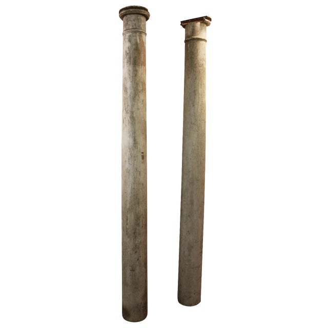 1930s Salvaged Architectural Columns - A Pair - Image 1 of 11