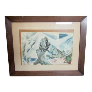 Framed Watercolor Painting For Sale