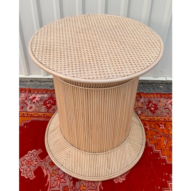 Gabriella Crespi Split Reed Bamboo Rattan Dining Table Base in Crespi Style For Sale - Image 4 of 12