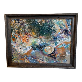 Contemporary Abstract Seascape Oil Painting, Framed For Sale